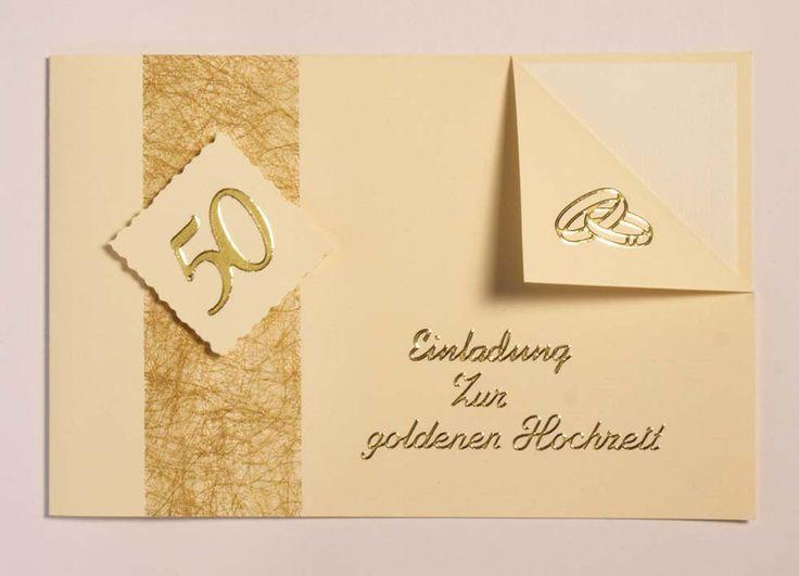 Einladungskarten Zur Goldenen Hochzeit  Best 25 Einladungskarten goldene hochzeit ideas on Pinterest