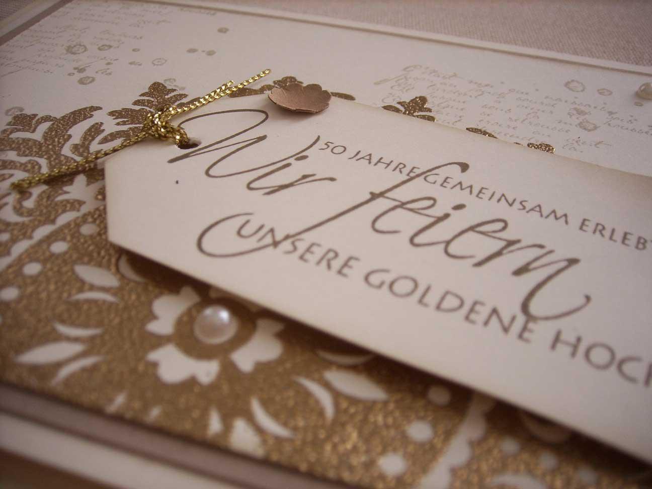 Einladungskarten Zur Goldenen Hochzeit  Einladungskarten Goldene Hochzeit Einladungskarten
