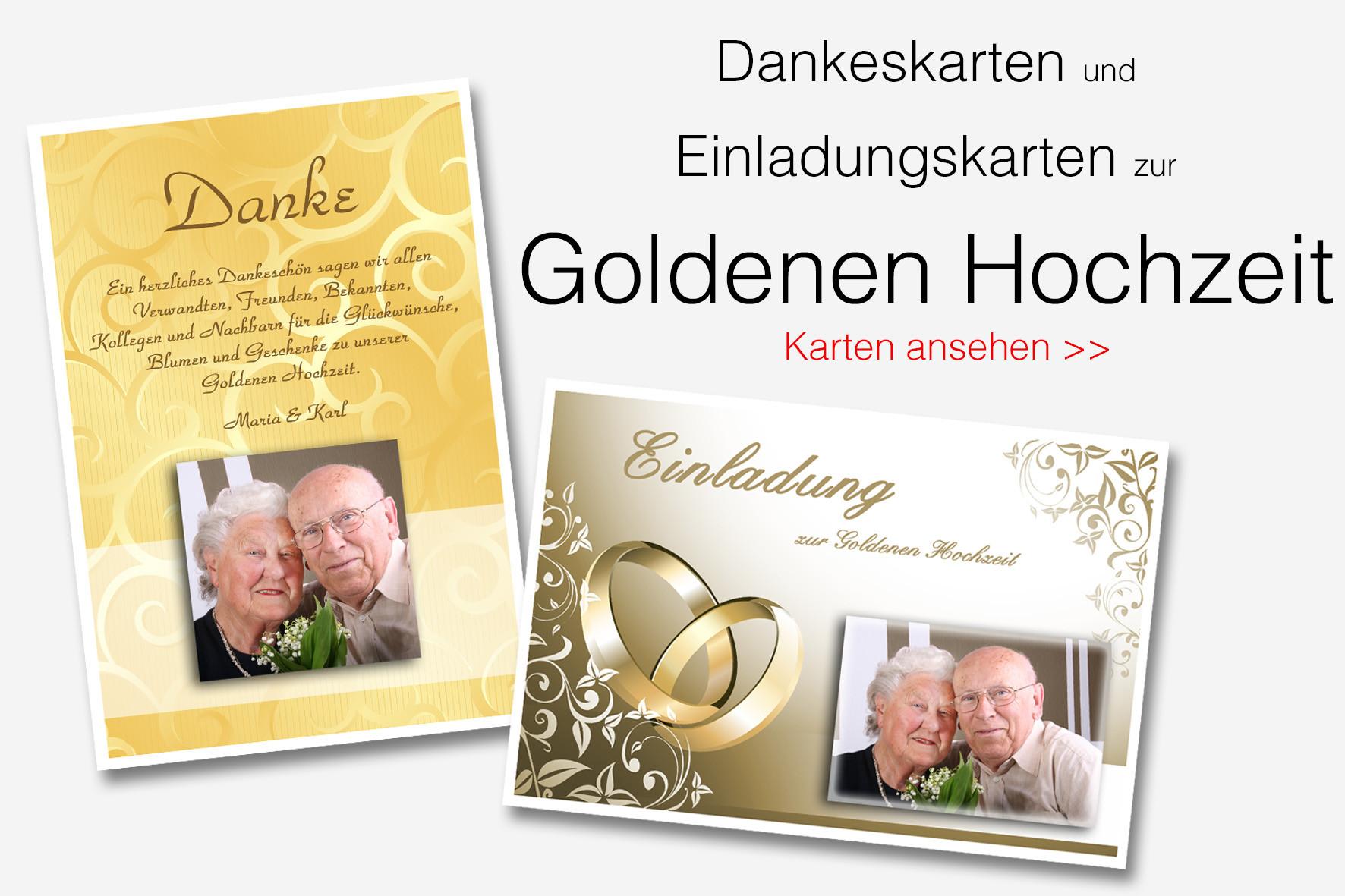 Einladungskarten Zur Goldenen Hochzeit  Danksagungen Dankeskarten & Einladungen bestellen
