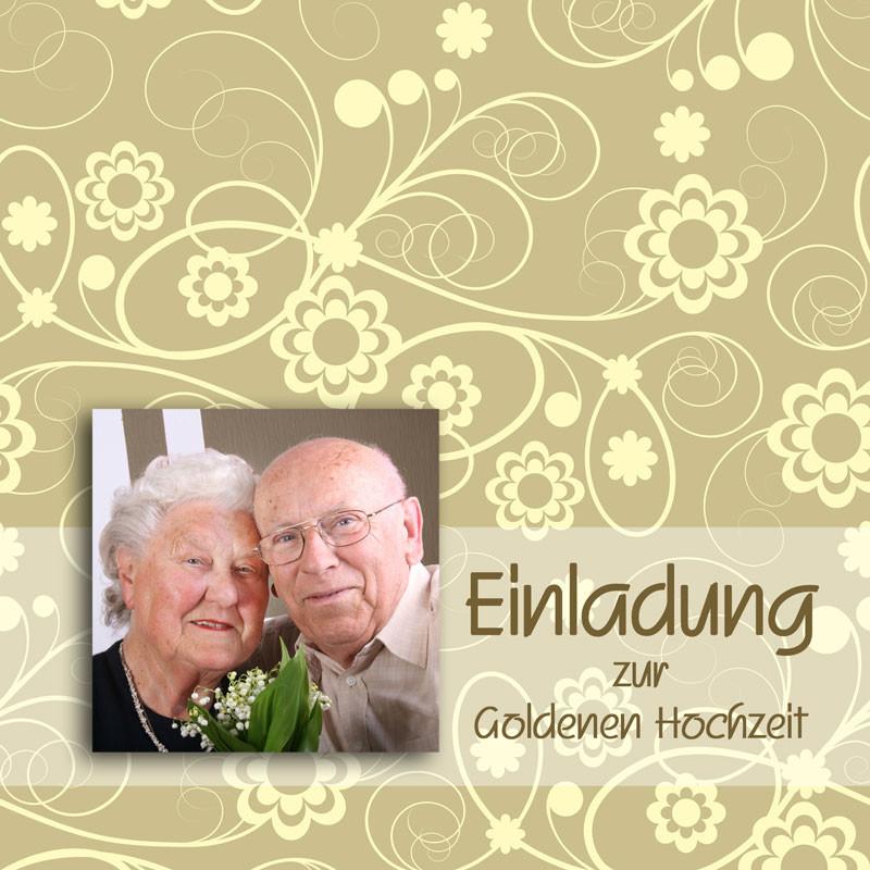Einladungskarten Zur Goldenen Hochzeit  Einladung & Einladungskarten Goldene Hochzeit