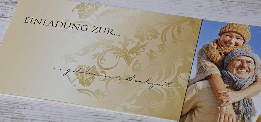 Einladungskarten Zur Goldenen Hochzeit  Einladungskarten für goldene Hochzeit selbst gestalten