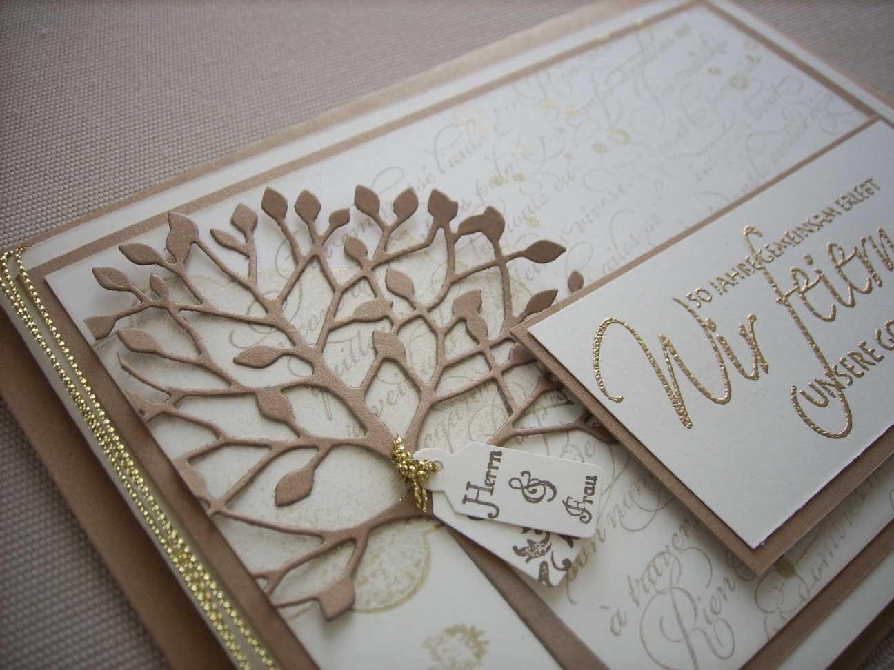 Einladungskarten Zur Goldenen Hochzeit  einladungskarten goldene hochzeit kostenlos