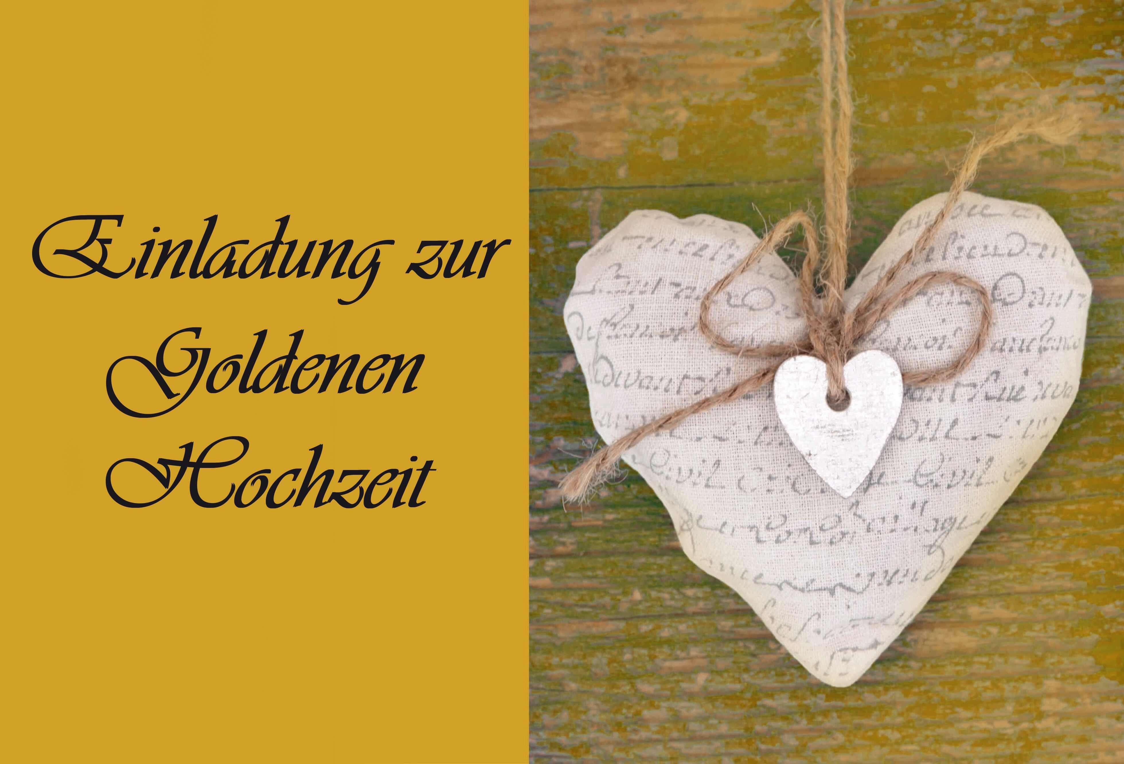 Einladungskarten Zur Goldenen Hochzeit  Goldene Hochzeit Einladungskarten Hochzeitsportal24