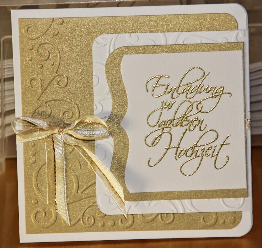 Einladungskarten Zur Goldenen Hochzeit  Klein aber fein Oktober 2014