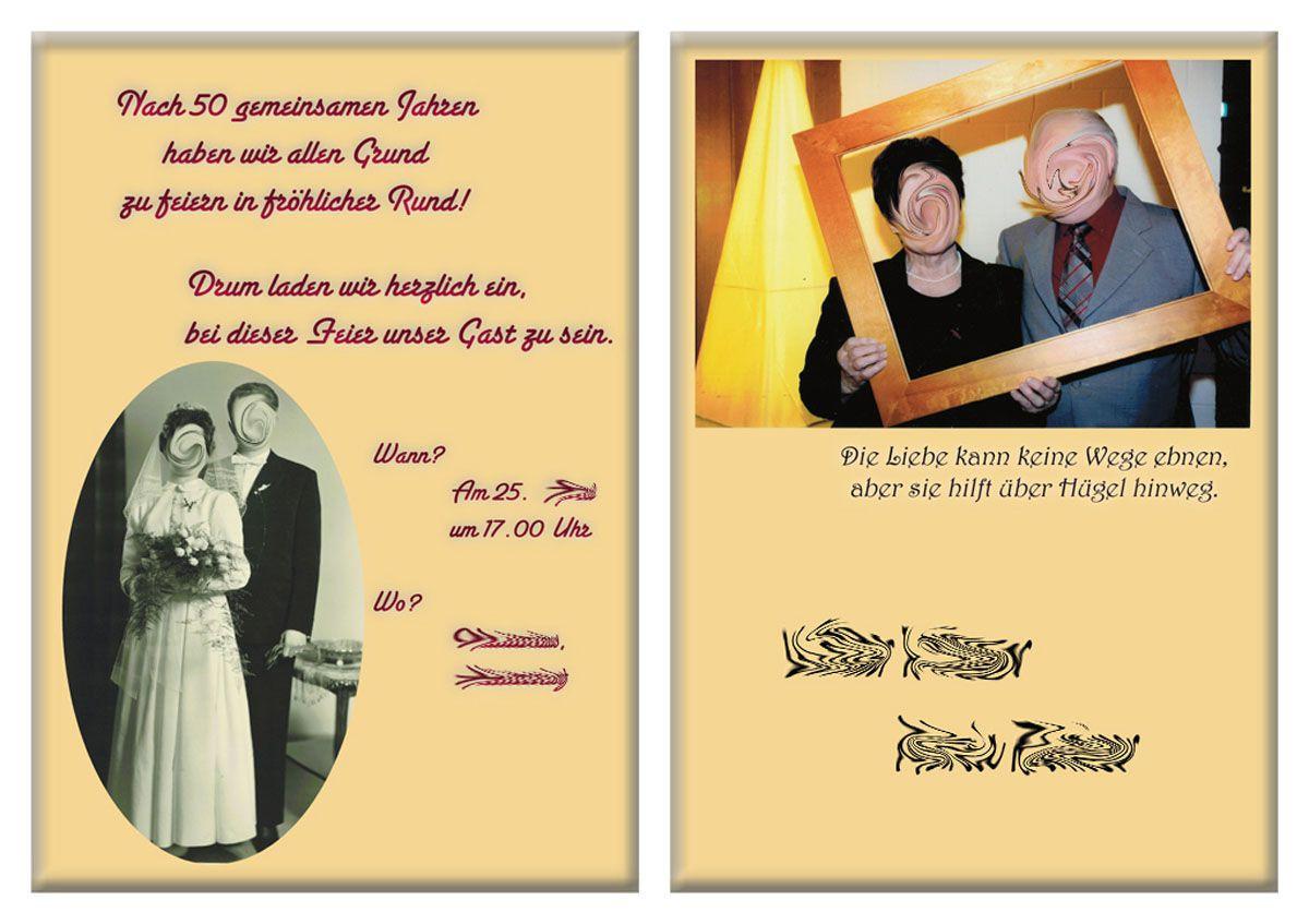 Einladungstexte Goldene Hochzeit  einladungskarten hochzeit einladungskarten goldene