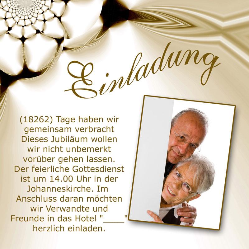 Einladungstexte Goldene Hochzeit  Einladung & Einladungskarten Goldene Hochzeit