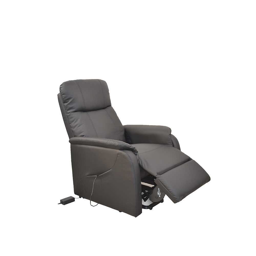 Elektrischer Sessel  Elektrischer Sessel Modernoa in Schwarz mit Aufstehhilfe