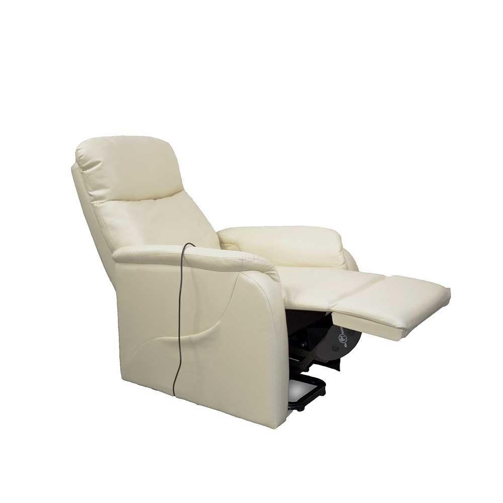 Elektrischer Sessel  Elektrischer Sessel mit Aufstehhilfe mit Kunstleder Creme