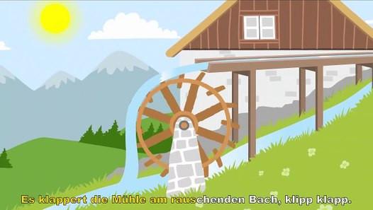 Es Klappert Die Mühle Am Rauschenden Bach  Es klappert Mühle am rauschenden Bach Kinderlieder
