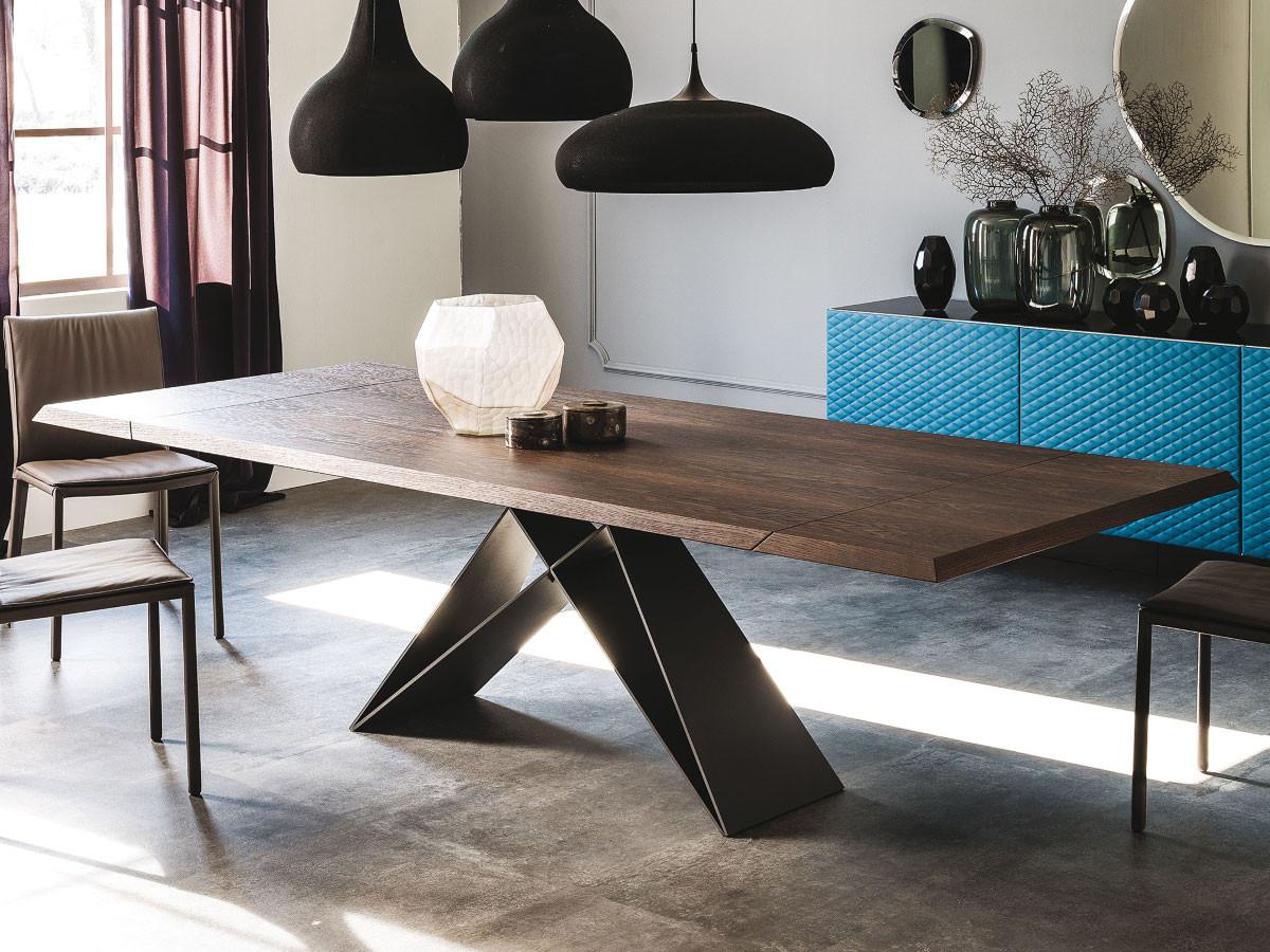 Esstisch Design  Cattelan Italia ausziehbarer Holz Tisch Premier Drive Wood