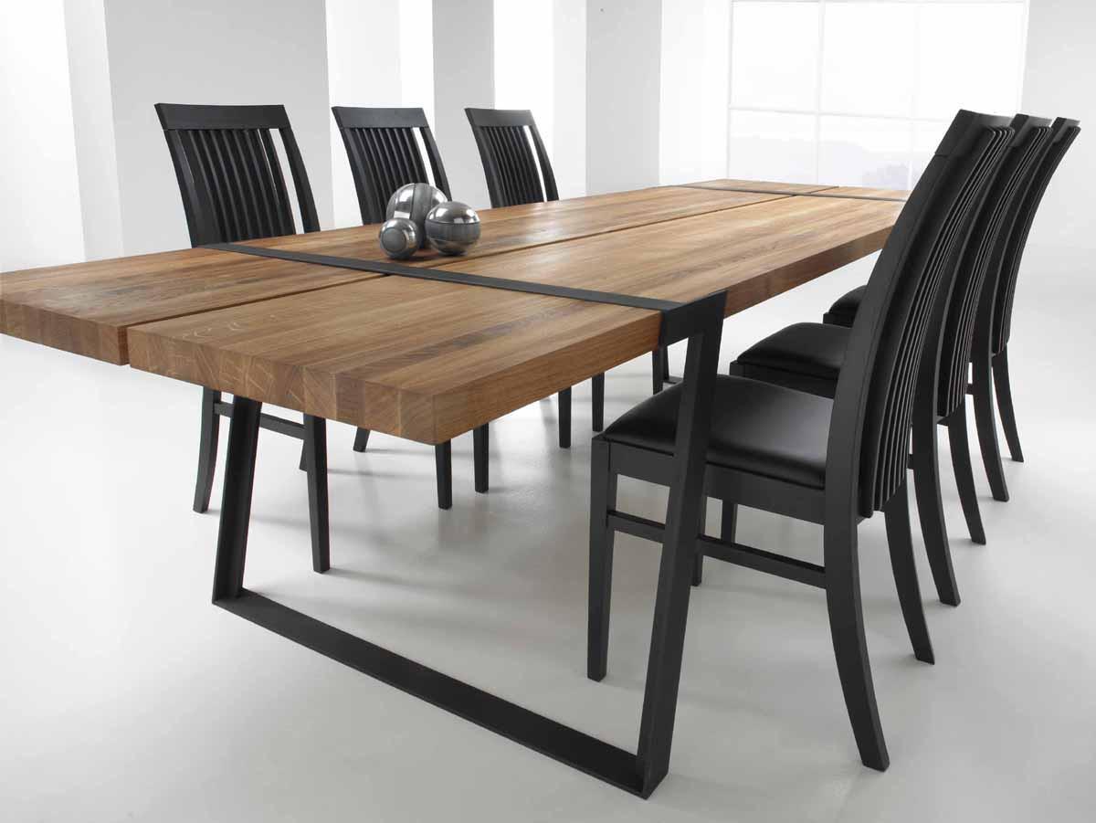 Esstisch Design  Design Esstisch GIGANT 290x100cm Wildeiche Stahl Pick Up Möbel