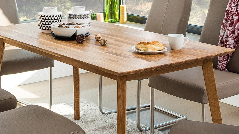 Esstisch Eiche Massiv  Esstisch VINKO 120x80 Tisch in Eiche Natur massiv