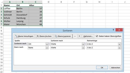 Excel Tabelle Sortieren  Excel Tabelle alphabetisch sortieren so geht s CHIP