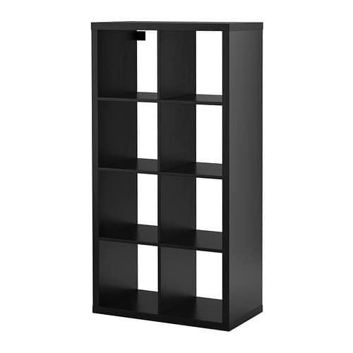 Expedit Regal  KALLAX Regal schwarzbraun IKEA