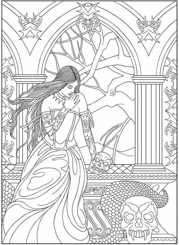 Fantasy Ausmalbilder  Ausmalbilder für erwachsene Fantasy zum ausdrucken kostenlos