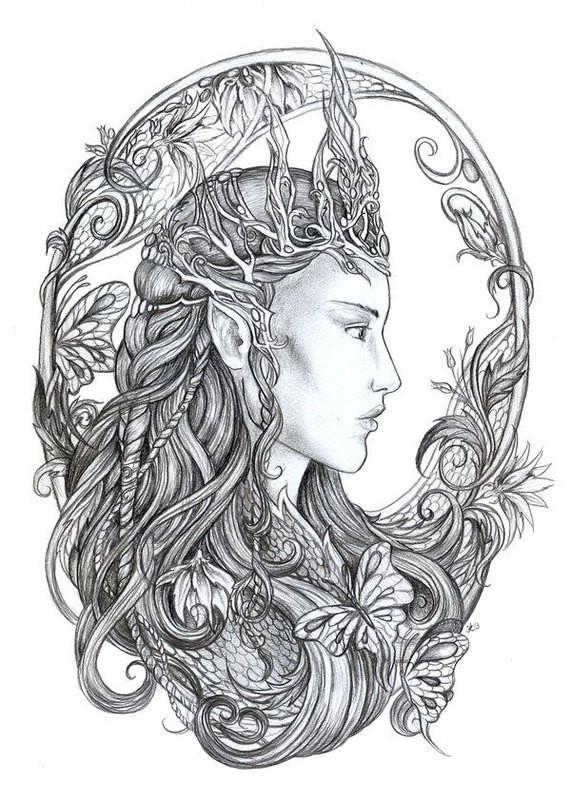 Fantasy Ausmalbilder  Fantasy Ausmalbilder für Erwachsene kostenlos zum Ausdrucken 4