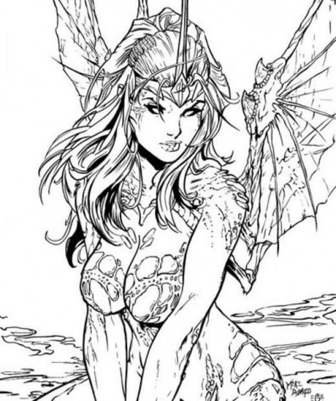 Fantasy Ausmalbilder  Fantasy Ausmalbilder für Erwachsene kostenlos zum Ausdrucken 5
