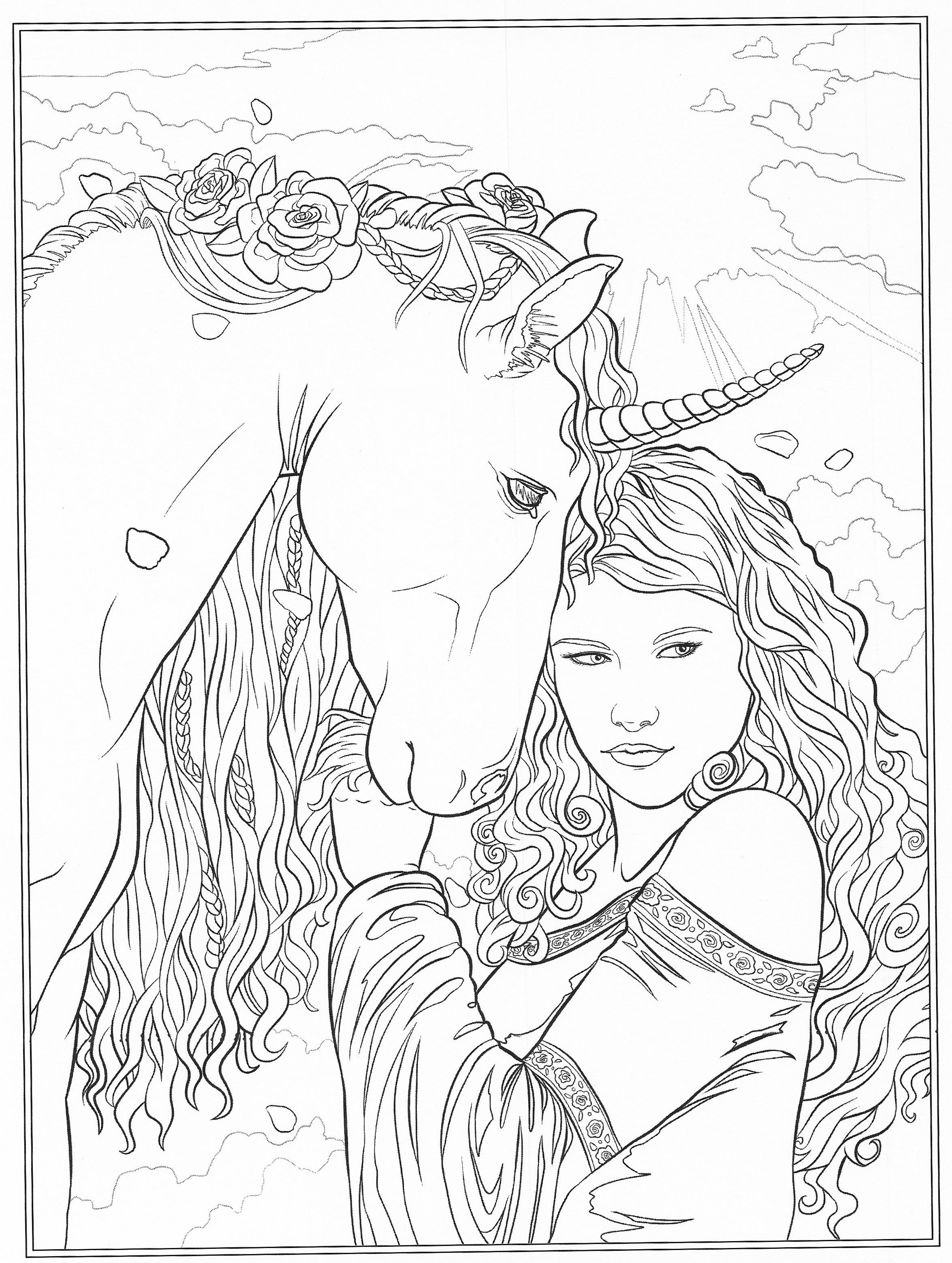 Fantasy Ausmalbilder  Fantasia Para Colorear Colorear