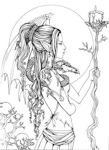 Fantasy Ausmalbilder  Mystical A Fantasy Coloring Book