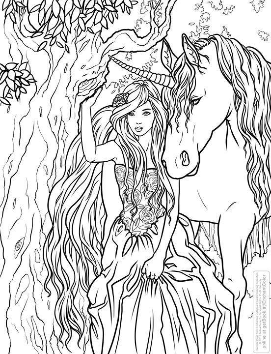 Fantasy Ausmalbilder  Ausmalbilder Erwachsene Einhorn 701 Malvorlage Erwachsene