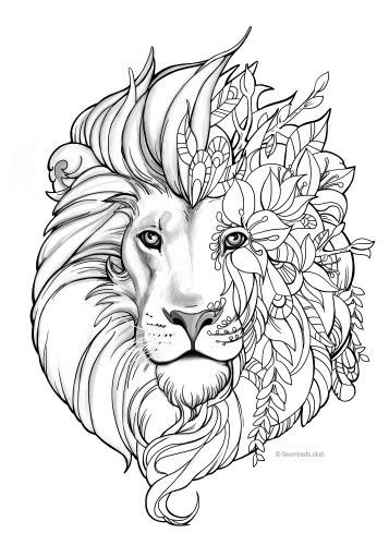 Fantasy Ausmalbilder  Fantasy Lion Malvorlagen
