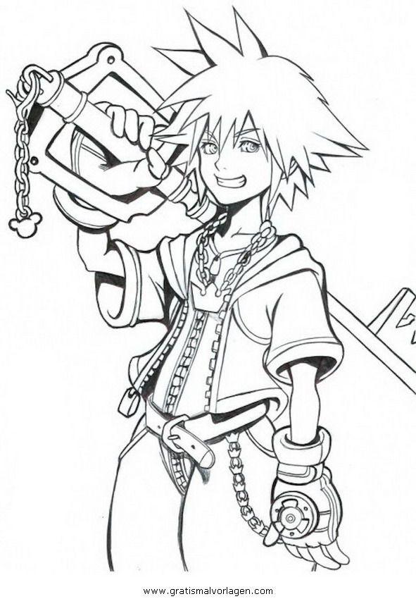 Fantasy Ausmalbilder  Pin by Kristen on Kingdom Hearts