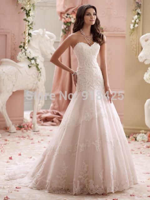 Fit And Flare Hochzeitskleid  Land art hochzeitskleid Spitze Appliques Liebsten Fit und