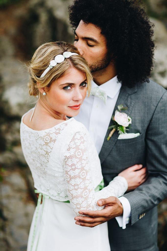Fliege Hochzeit  Fliege mit Spitze im Hippie Stil – noni