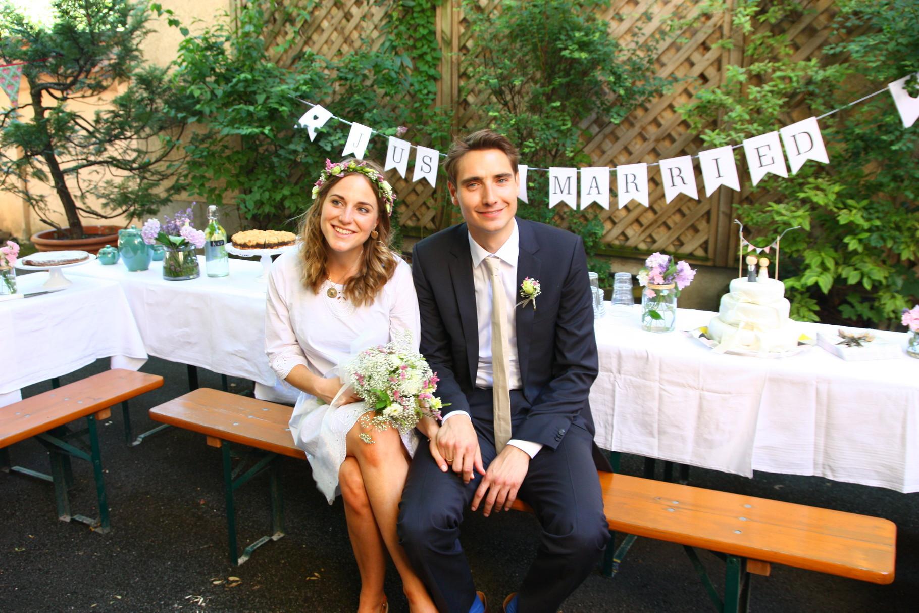 Fliege Hochzeit  Low Bud Hochzeit im eigenen Hinterhof Strauß&Fliege