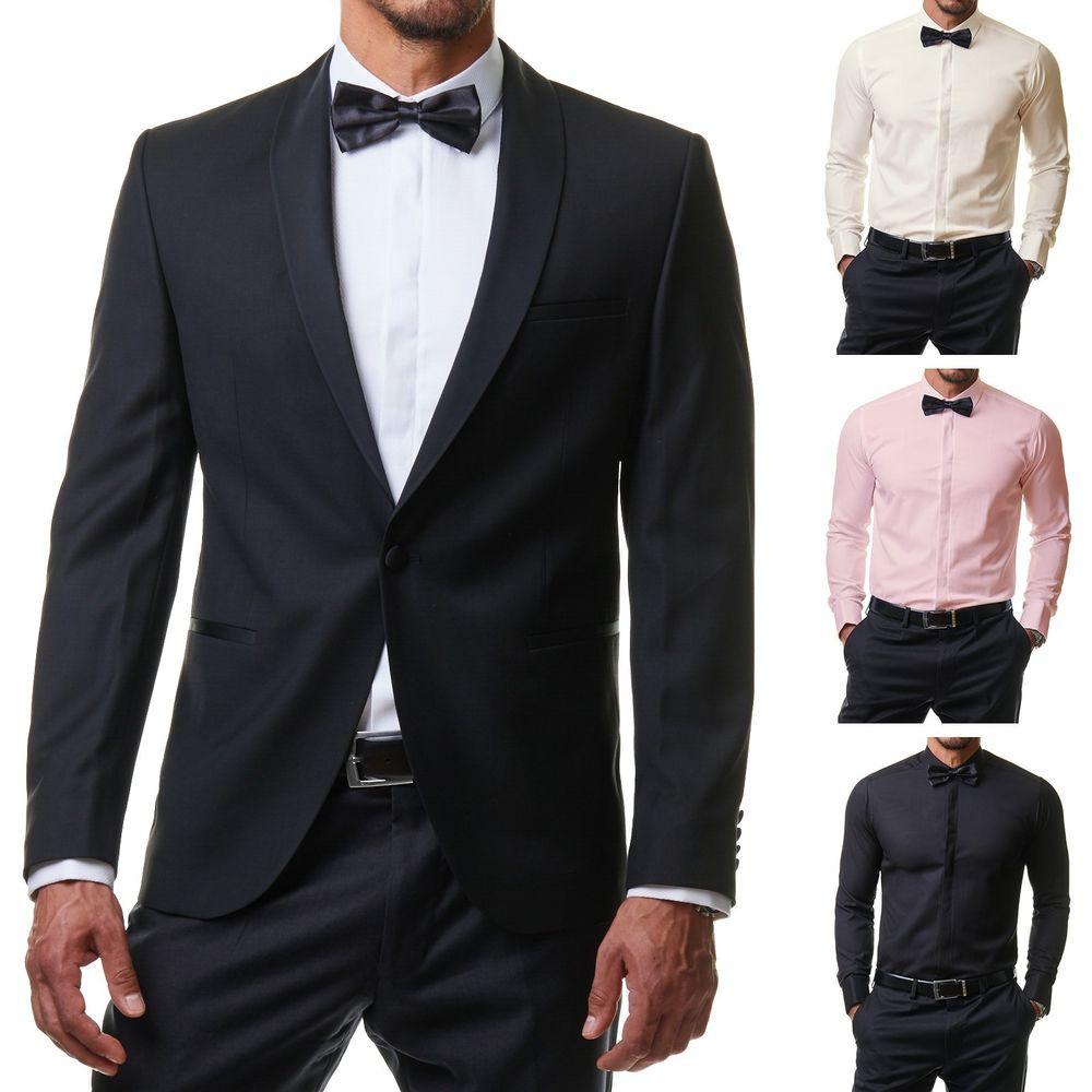 Fliege Hochzeit  Herren Hemd Anzug Smoking Business Slim Fit Hochzeit