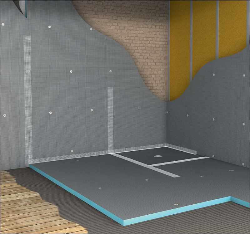 Fliesen Untergrund  Wediplatte Fliesenbauplatte Wedi Wediplatten Bauplatte