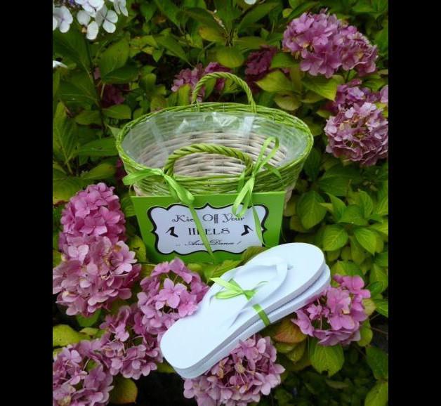 Flip Flops Hochzeit Gäste  Gastgeschenke Flip Flop Korb für Gäste zur Hochzeit