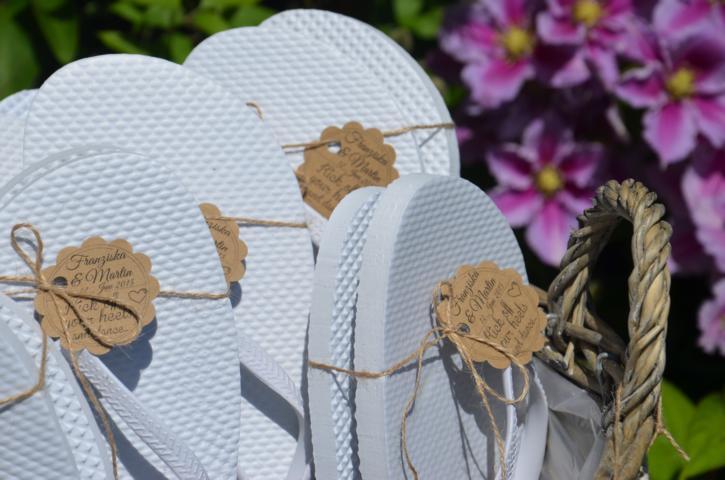 Flip Flops Hochzeit Gäste  Flip Flop Körbe