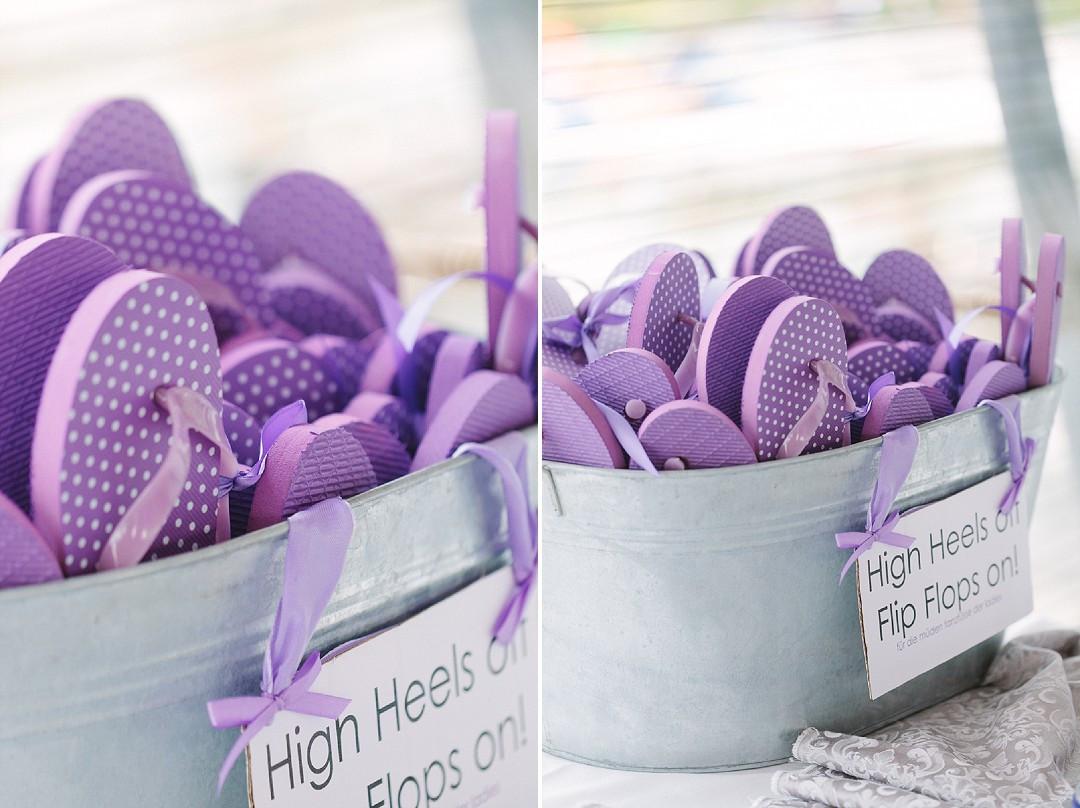 Flip Flops Hochzeit Gäste  High Heels off – Flip Flops on