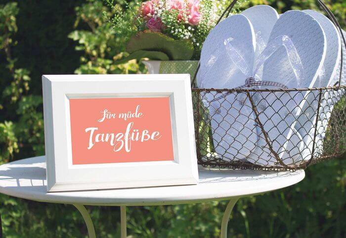 Flip Flops Hochzeit Gäste  Flip Flops zur Hochzeit Tipps & Ideen für müde Tanzfüße