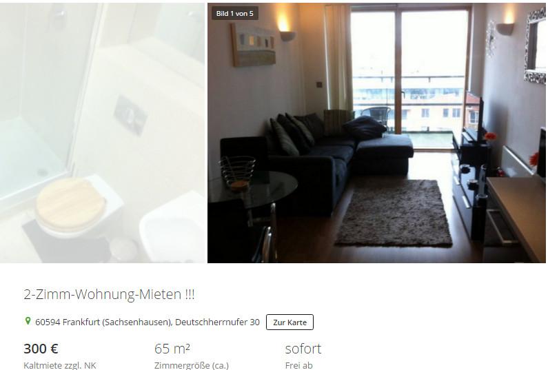 Frankfurt Wohnung Mieten  wohnungsbetrug oster torsten web 2 Zimm