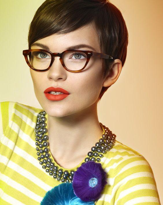Frisuren Brillenträger  Die besten 25 Kurzhaarfrisuren für brillenträger Ideen