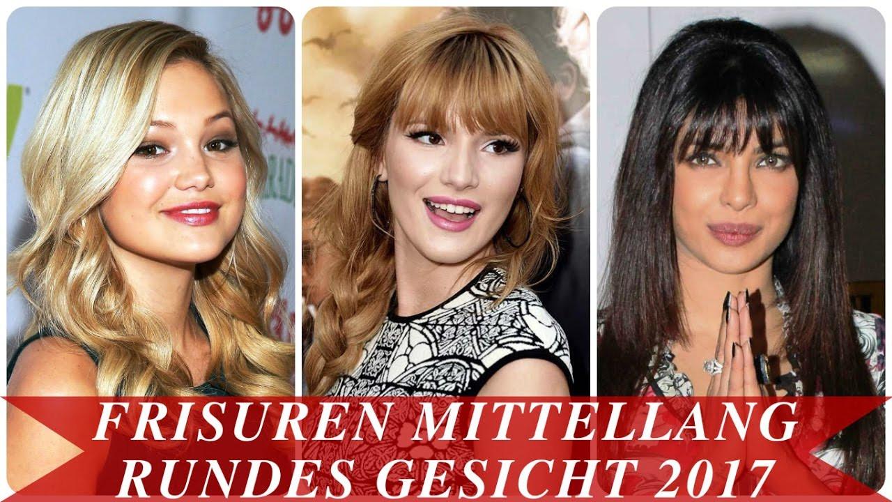 Frisuren Frauen Rundes Gesicht  Frisuren mittellang rundes gesicht 2017