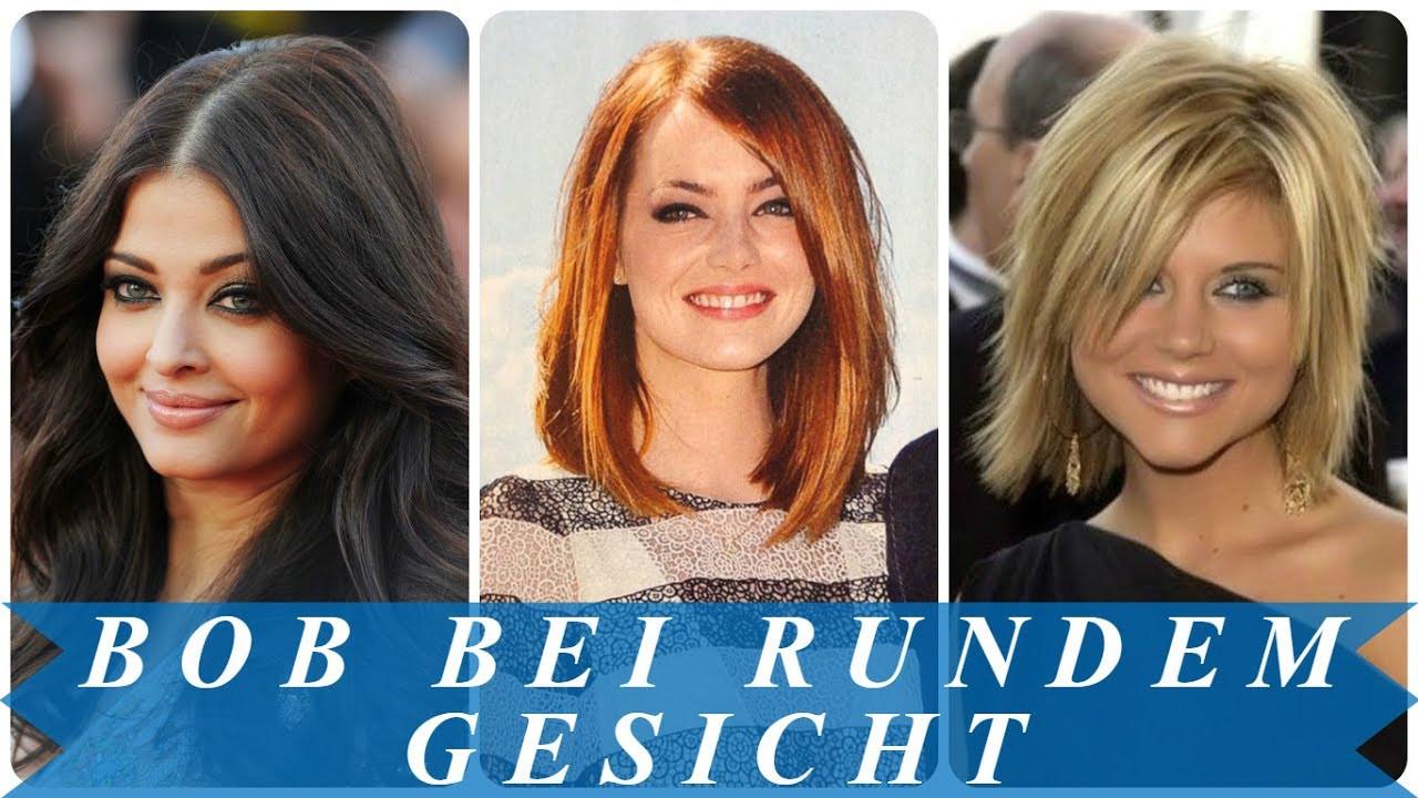 Frisuren Frauen Rundes Gesicht  Coole bob frisuren für runde gesichter