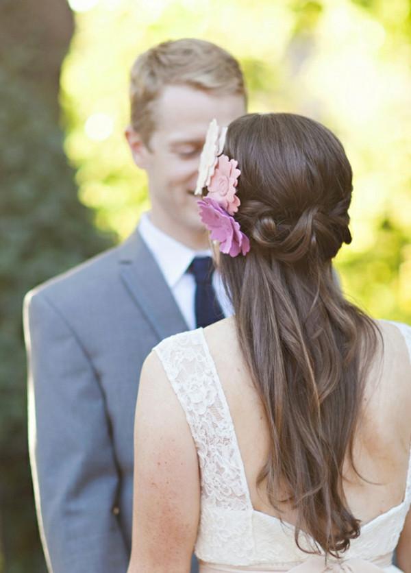 Frisuren Hochzeit Halboffen  Brautfrisur halboffen kommen Sie mit Stil unter Haube