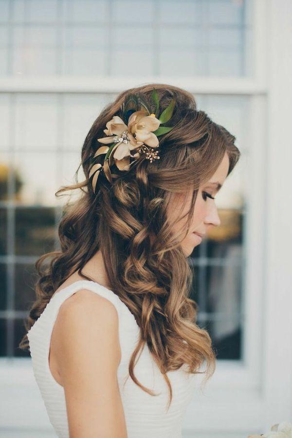 Frisuren Hochzeit Halboffen  Die 25 besten Ideen zu Frisuren halboffen auf Pinterest