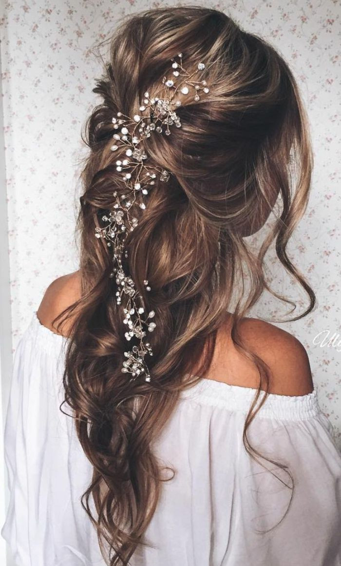 Frisuren Hochzeit Halboffen  Die besten 25 Brautfrisur halboffen Ideen auf Pinterest