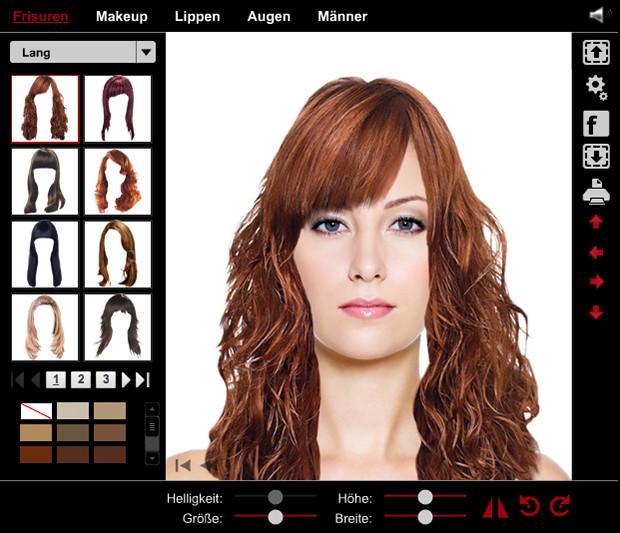 Frisuren Testen Mit Eigenem Foto  Das dreieckige herzförmige Gesicht