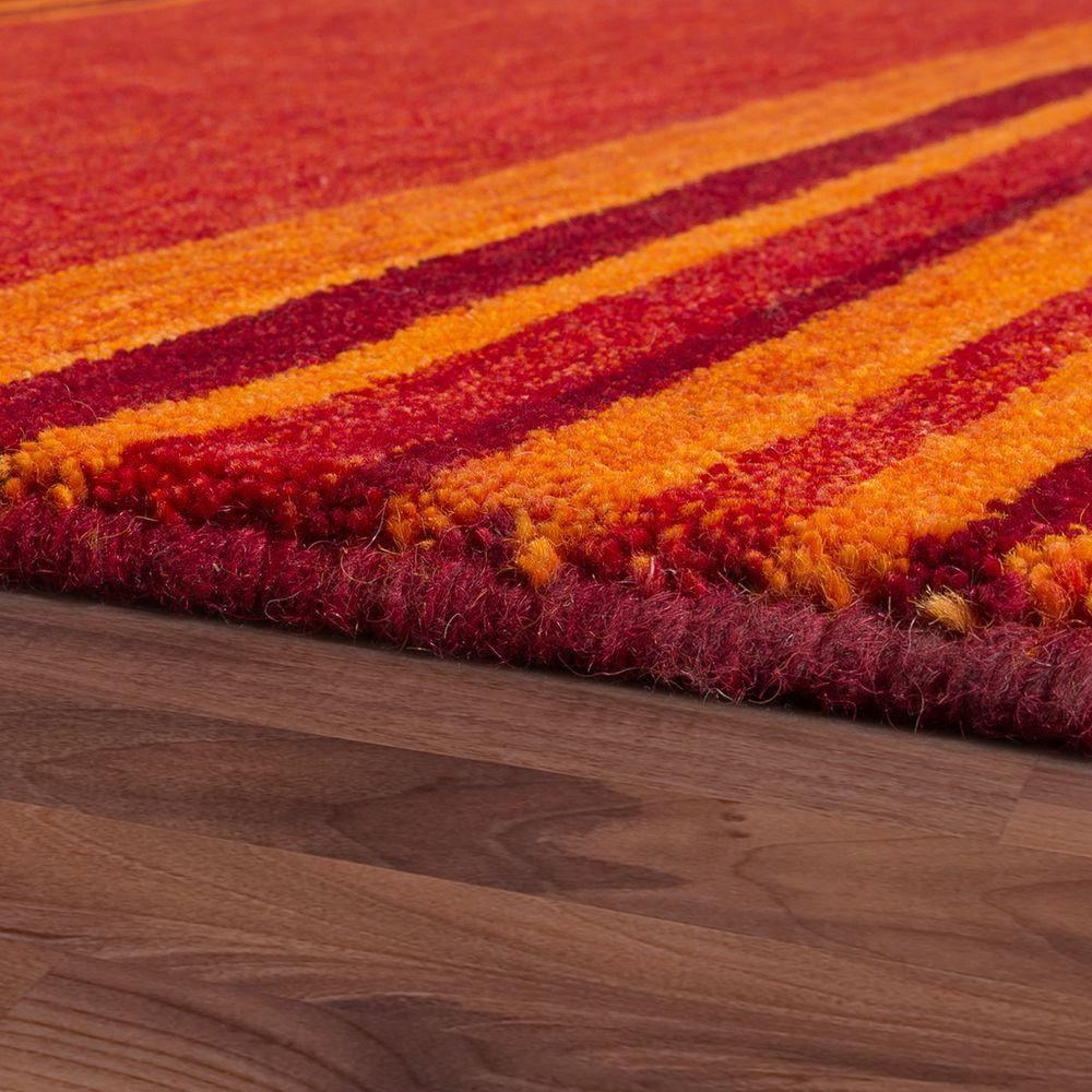 Gabbeh Teppich  Teppich Handgewebt Gabbeh Qualität Wolle Streifen
