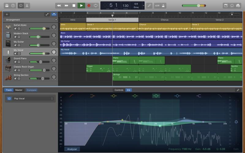 Garage Band  Download GarageBand 10 1 for Mac OS X Free Cracked