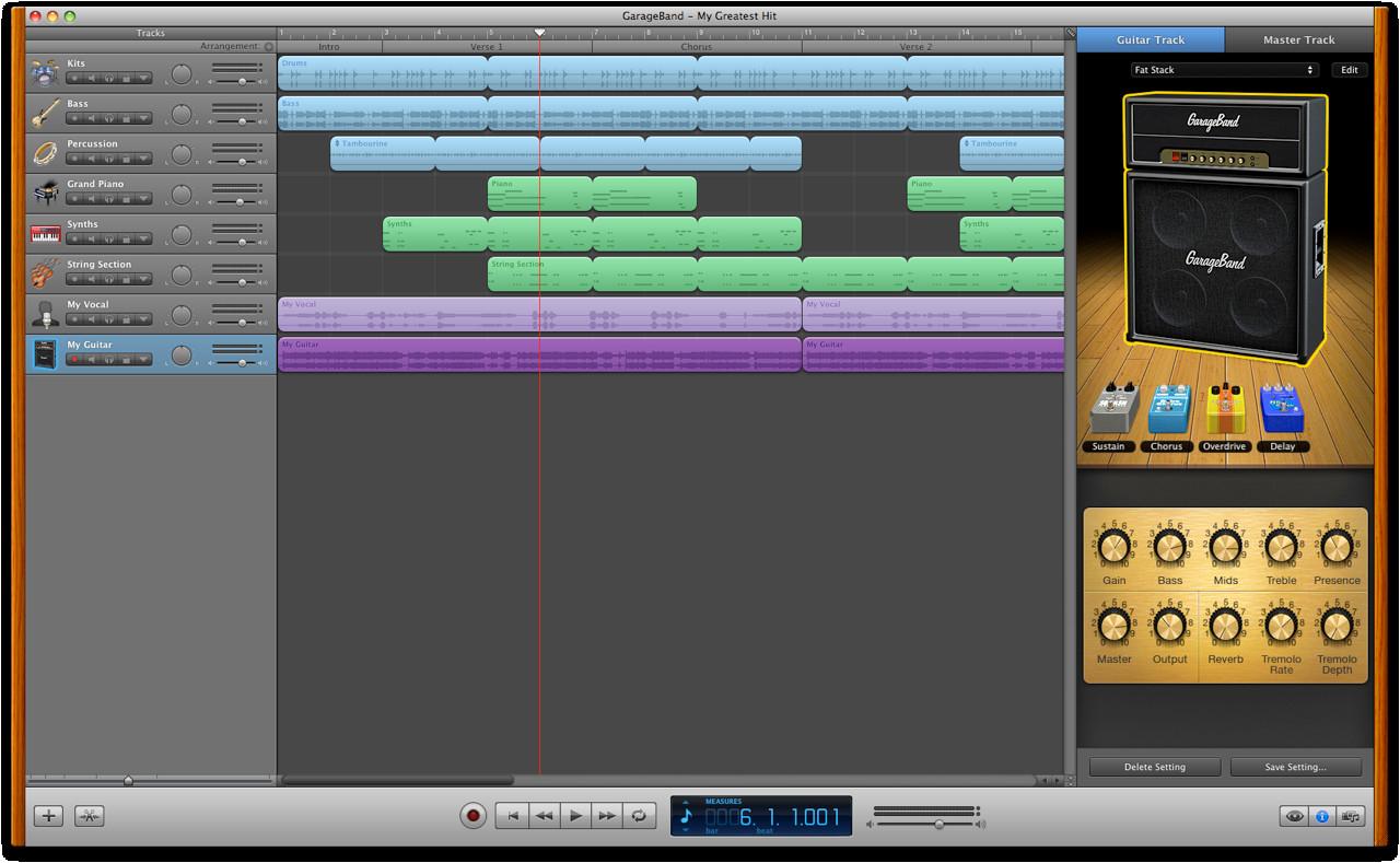 Garage Band  Mac 101 GarageBand Apple Support