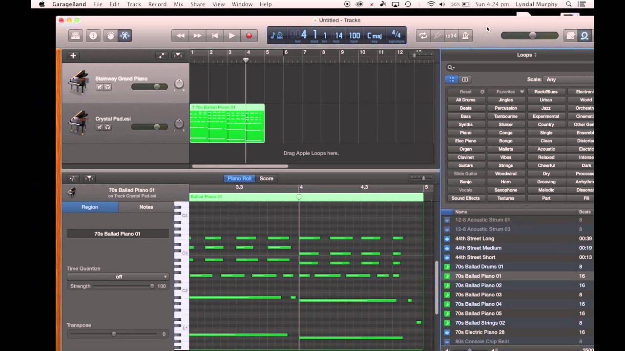 Garage Band  GarageBand Tutorial 1 Getting Started in GarageBand on
