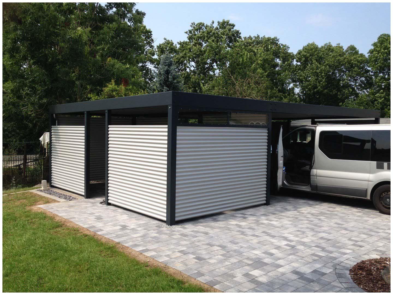 Garage Blech  Garage Blech Design Metall Carport Aus Holz Blech