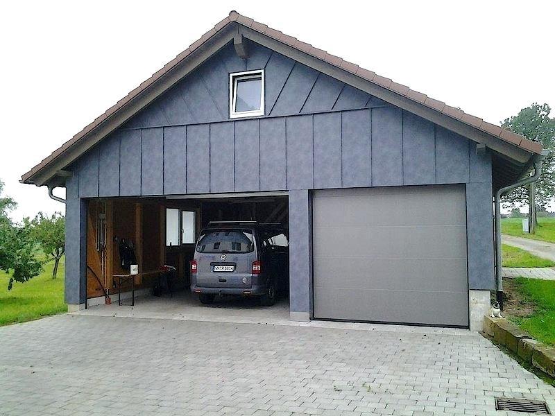 Garage Blech  Garage Blechdach
