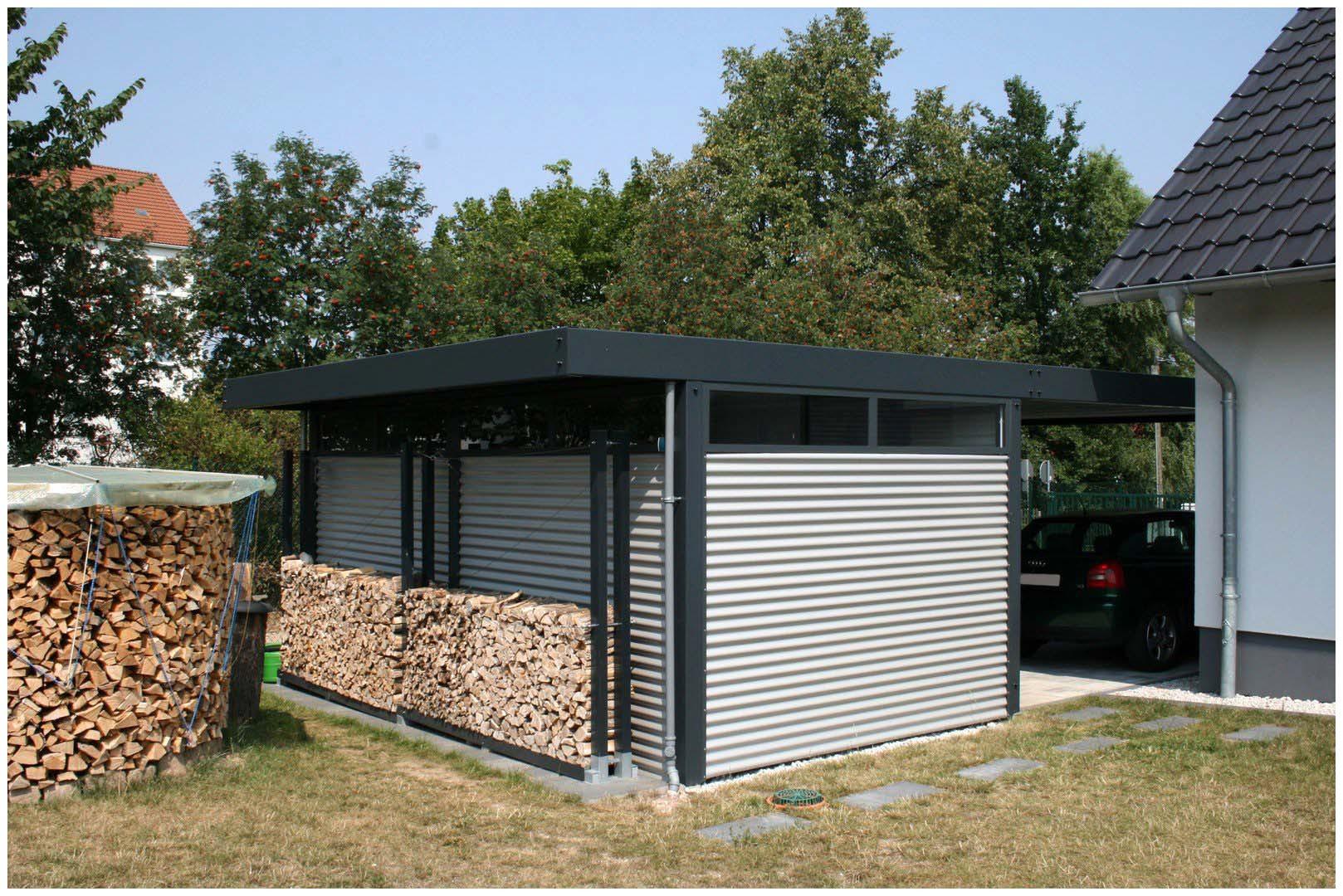 Garage Blech  Garage Blech Design Metall Carport Aus Stahl Blech